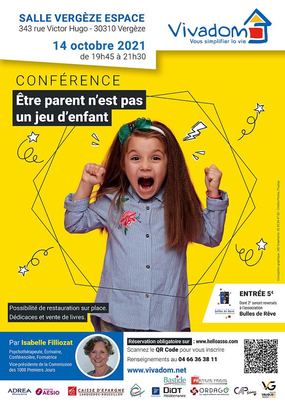 Affiche conference vergeze filliozat 2021 - Site Isabelle Filliozat