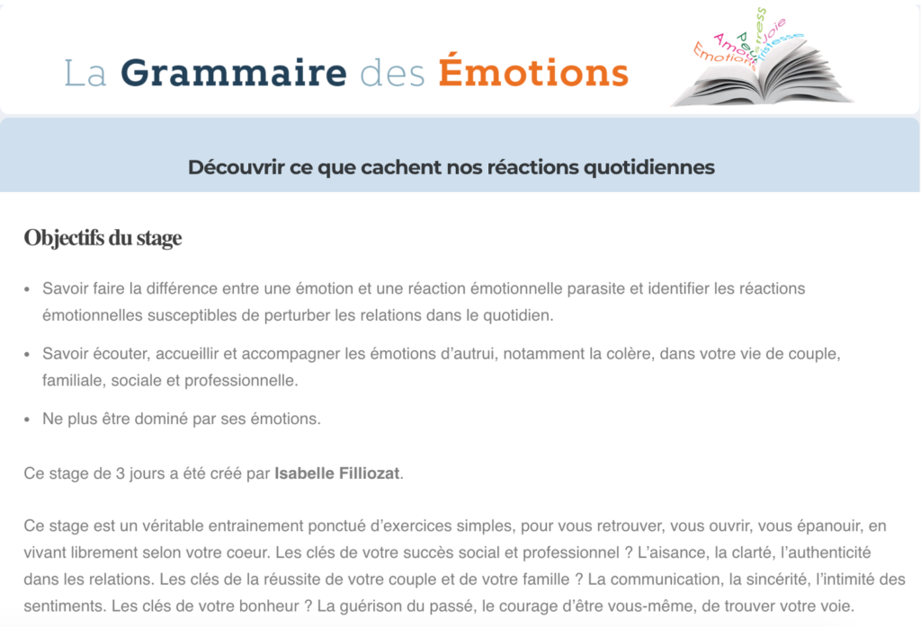 grammaire des emotions filliozat
