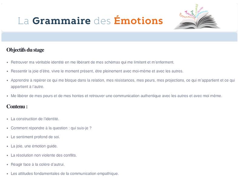 Grammaire des emotions 2 filliozat